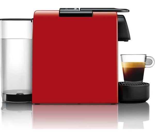 Nespresso By Magimix Essenza Mini Coffee Machine With Aeroccino Ruby Red