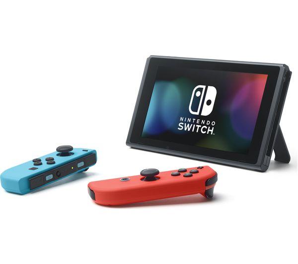 NINTENDO Switch Neon Red & The Legend of Zelda: Breath of the Wild Bundle