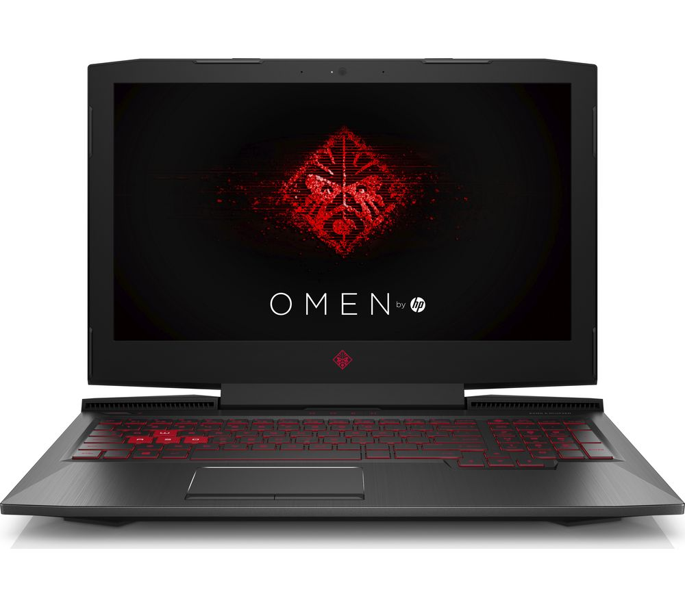 "HP OMEN 15-ce054na 15.6"" Gaming Laptop - Black + L15BUN16 15.6"" Laptop Case with Wireless Mouse & Screen Wipes - Black"
