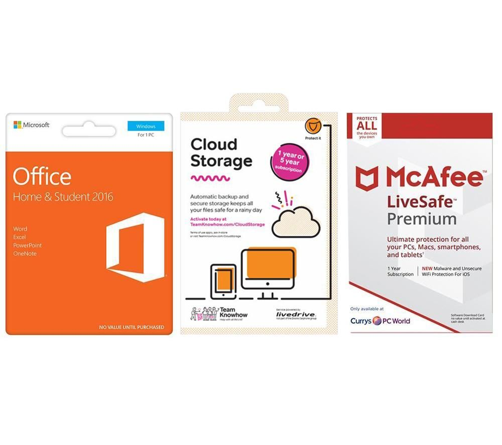 Buy MCAFEE Office Home & Student, 2 TB Cloud Storage & LiveSafe ...
