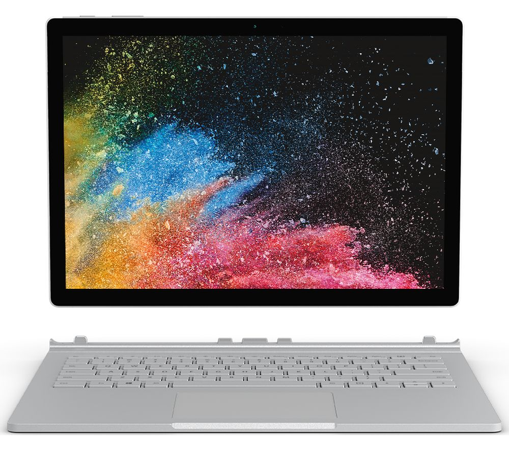 buy microsoft surface book 2 13 5 256 gb silver free delivery currys. Black Bedroom Furniture Sets. Home Design Ideas