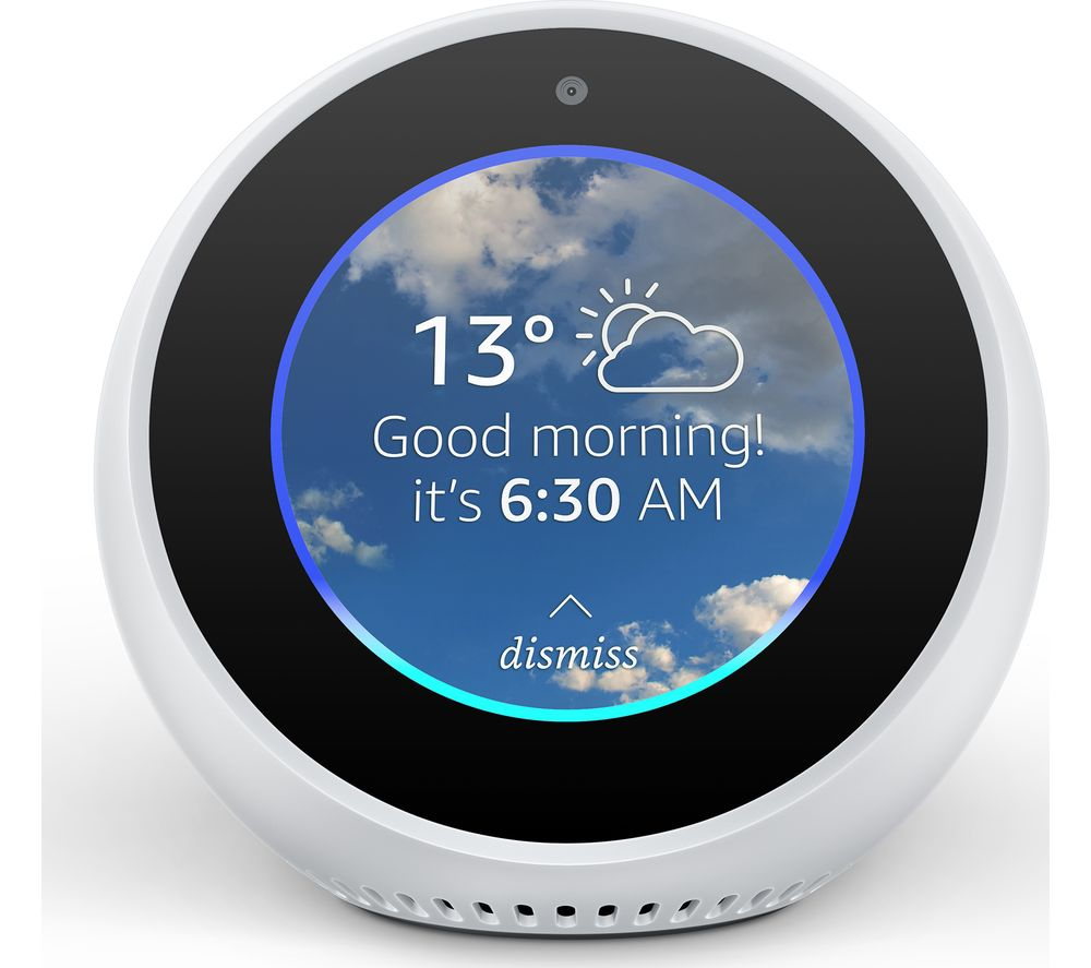 Image of AMAZON Echo Spot - White, White