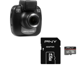 NEXTBASE 112 Lite Dash Cam & 32 GB Turbo Class 10 MicroSDHC Memory Card Bundle