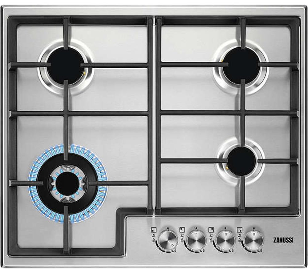 ZANUSSI ZGH66424XX Gas Hob - Stainless Steel