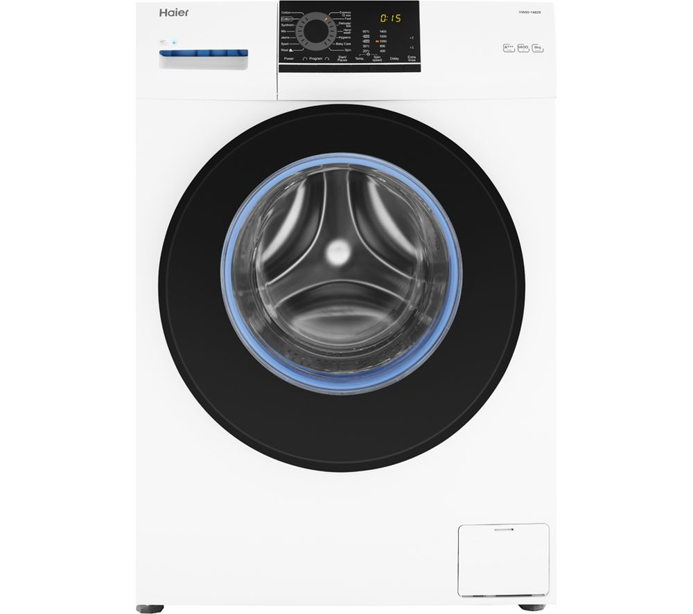 HAIER HW80-14829 8 kg 1400 Spin Washing Machine - White, White