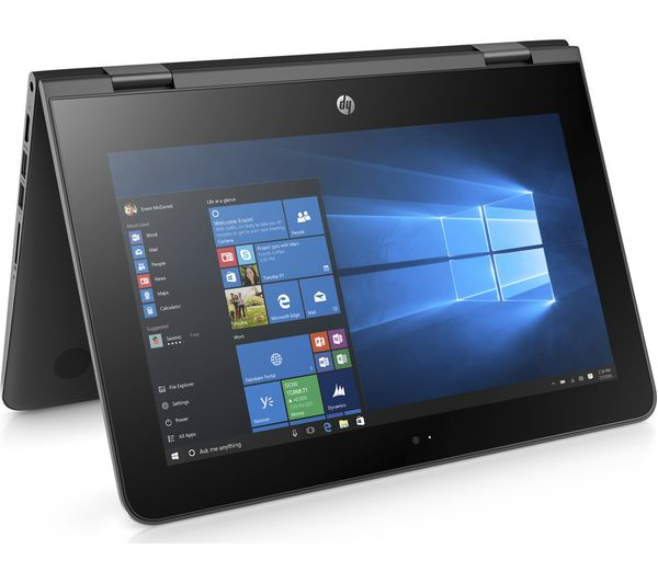"Image of HP Stream 11 x360 11.6"" Intel® Celeron™ 2 in 1 - 32 GB eMMC, Black"