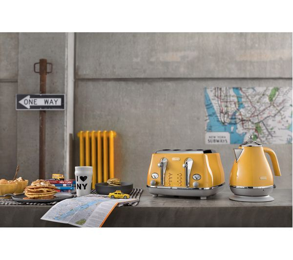 Buy Delonghi Icona Capitals Kboc Jug Kettle Yellow Free Delivery Currys