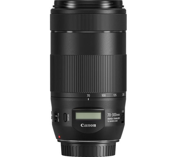 CANON EOS 800D DSLR Camera, EF-S 18-55 mm f/4-5 6 IS STM Lens & EF 70-300  mm F/4-5 6 IS II USM Telephoto Zoom Lens Bundle