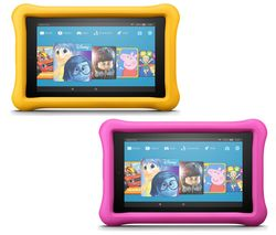 AMAZON Fire 7 Kids Edition Tablets Bundle - 16 GB, Pink & Yellow