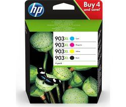 HP 903XL Cyan, Magenta, Yellow & Black Ink Cartridges