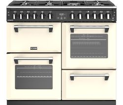 STOVES Richmond S1000DF CC 100 cm Dual Fuel Range Cooker - Cream & Black