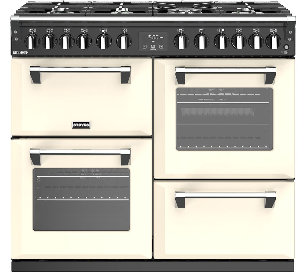 STOVES Richmond S1000DF CC 100 cm Dual Fuel Range Cooker - Cream & Black