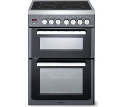 KENWOOD CK235C 60 cm Electric Ceramic Cooker - Slate Grey & Chrome Best Price, Cheapest Prices