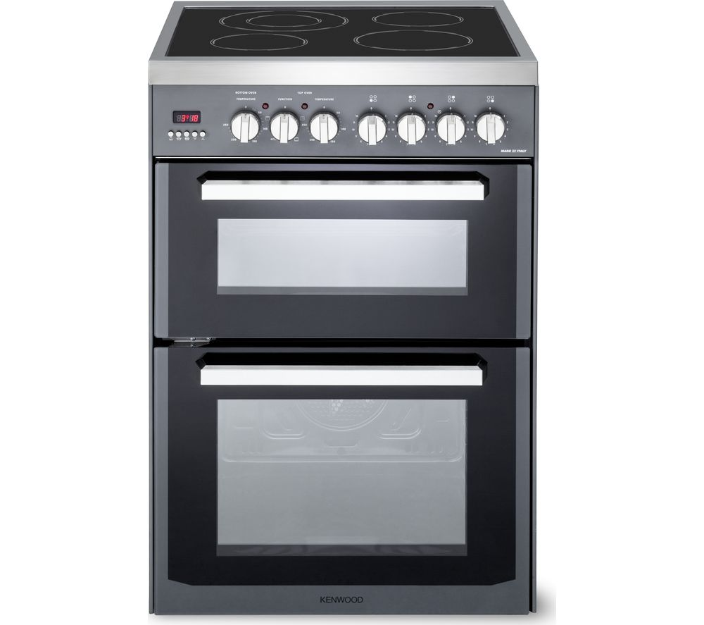 KENWOOD CK235C 60 cm Electric Ceramic Cooker - Slate Grey & Chrome, Grey