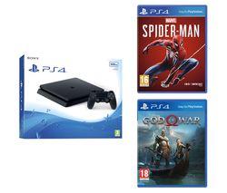 PlayStation 4, Marvel's Spider-Man & God Of War Bundle - 500 GB