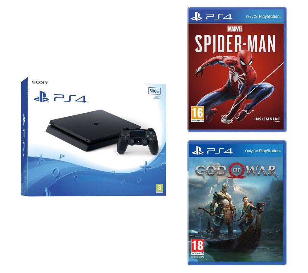 SONY PlayStation 4, Marvels Spider-Man & God Of War Bundle - 500 GB