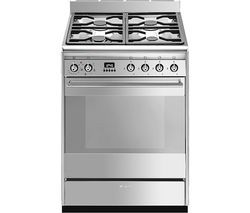 SMEG SUK61MX9 60 cm Dual Fuel Cooker - Stainless Steel Best Price, Cheapest Prices