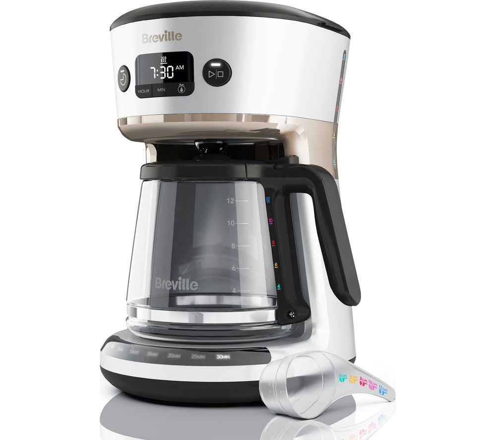 BREVILLE Mostra Easy Measure Filter Coffee Machine VCF115 – Silver, Silver