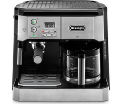 DELONGHI Combi BCO431.S Filter Coffee Machine - Silver & Black