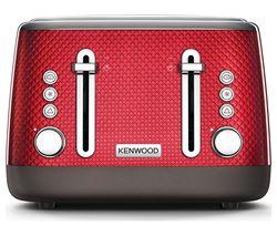 KENWOOD Mesmerine TFM810RD 4-Slice Toaster - Deep Red