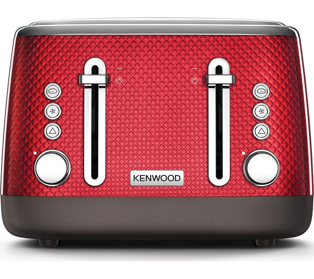 KENWOOD Mesmerine TFM810RD 4-Slice Toaster - Deep Red