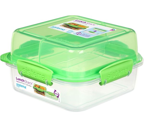 Image of SISTEMA Lunch Stack To Go Square 1.24-litre Container