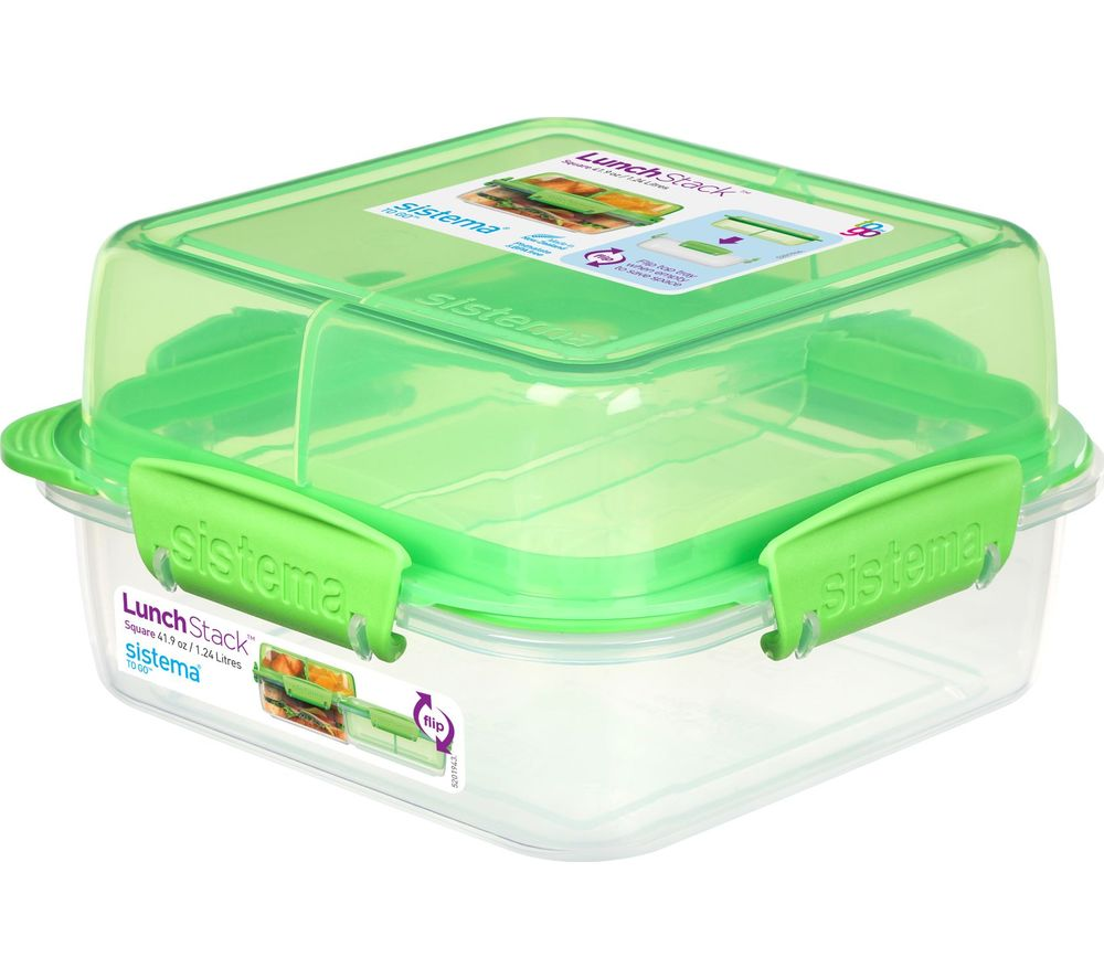 SISTEMA Lunch Stack To Go Square 1.24-litre Container
