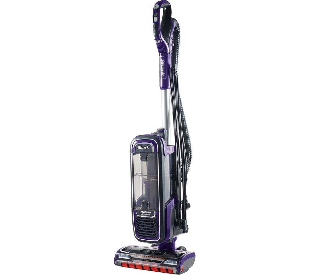Image of DuoClean Powered Lift-Away Anti Hair Wrap AZ950UK Upright Bagless Vacuum Cleaner - Purple, Purple