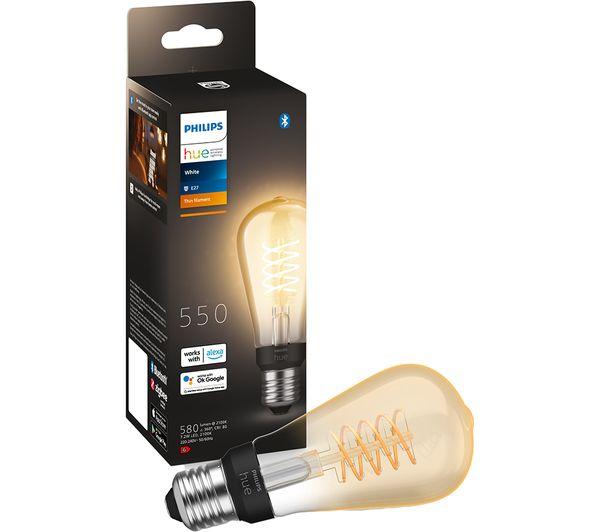Image of PHILIPS HUE Filament Bluetooth LED Bulb - ST64, E27