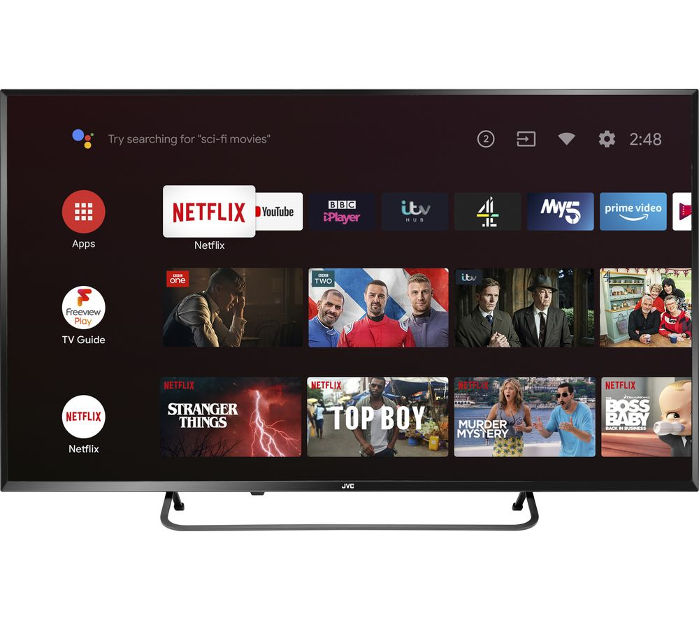 "JVC LT-55CA890 Android TV 55"" Smart 4K Ultra HD HDR LED TV with Google Assistant"