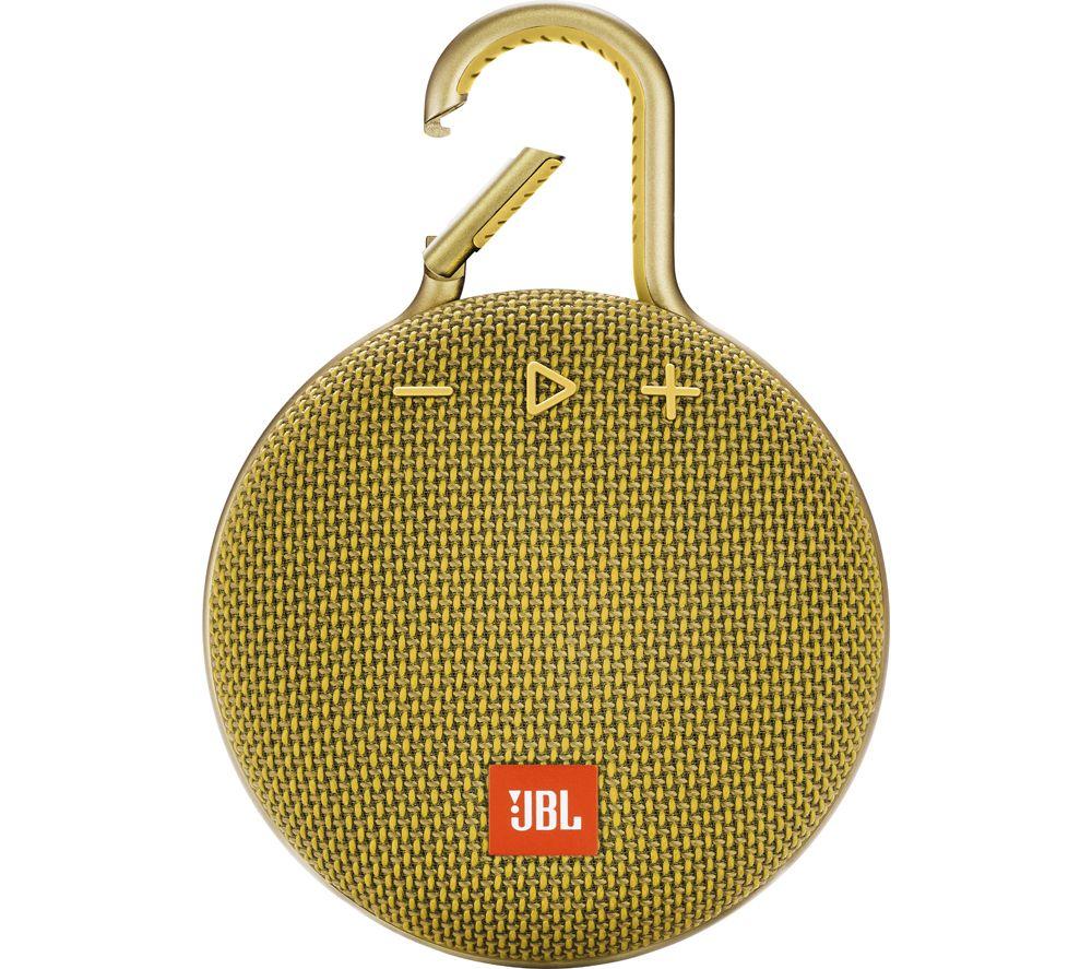 Clip 3 JBLCLIP3YEL Portable Bluetooth Speaker - Yellow, Yellow