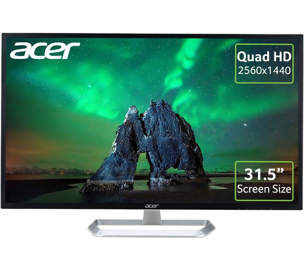 ACER EB321HQU Quad HD 31.5� IPS Monitor - Black, Black