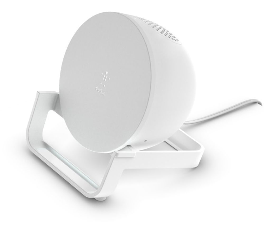 BELKIN 10 W Qi Wireless Charging Stand with Bluetooth Speaker - White, White