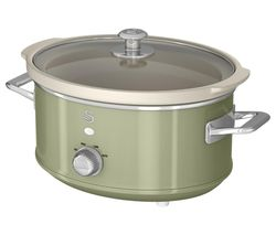 SWAN Retro SF17021 Slow Cooker - Green Best Price, Cheapest Prices