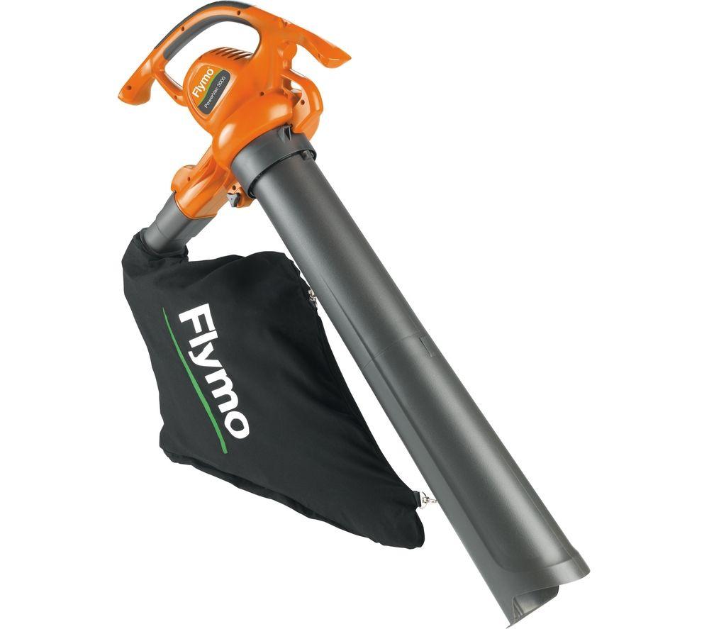 FLYMO PowerVac 3000 Garden Vacuum and Leaf Blower - Orange & Grey