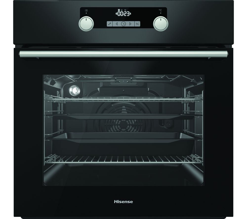 HISENSE BSA5221ABUK Electric Oven with Even Bake & Steam Add – Black, Black