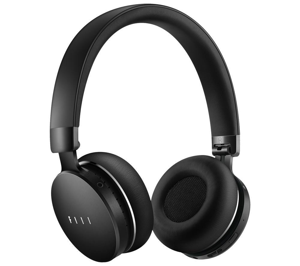 FIIL Canviis 99-00015-010301 Wireless Bluetooth Noise-Cancelling Headphones - Black, Black