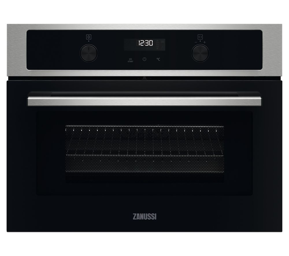 ZANUSSI ZVENM7X1 Compact Electric Built-in Combination Microwave - Black & Stainless Steel