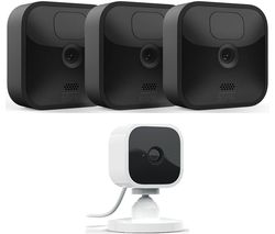 Blink Outdoor HD 1080p WiFi Security 3 Camera System & Blink Mini Full HD 1080p WiFi Plug-In Security Camera Bundle