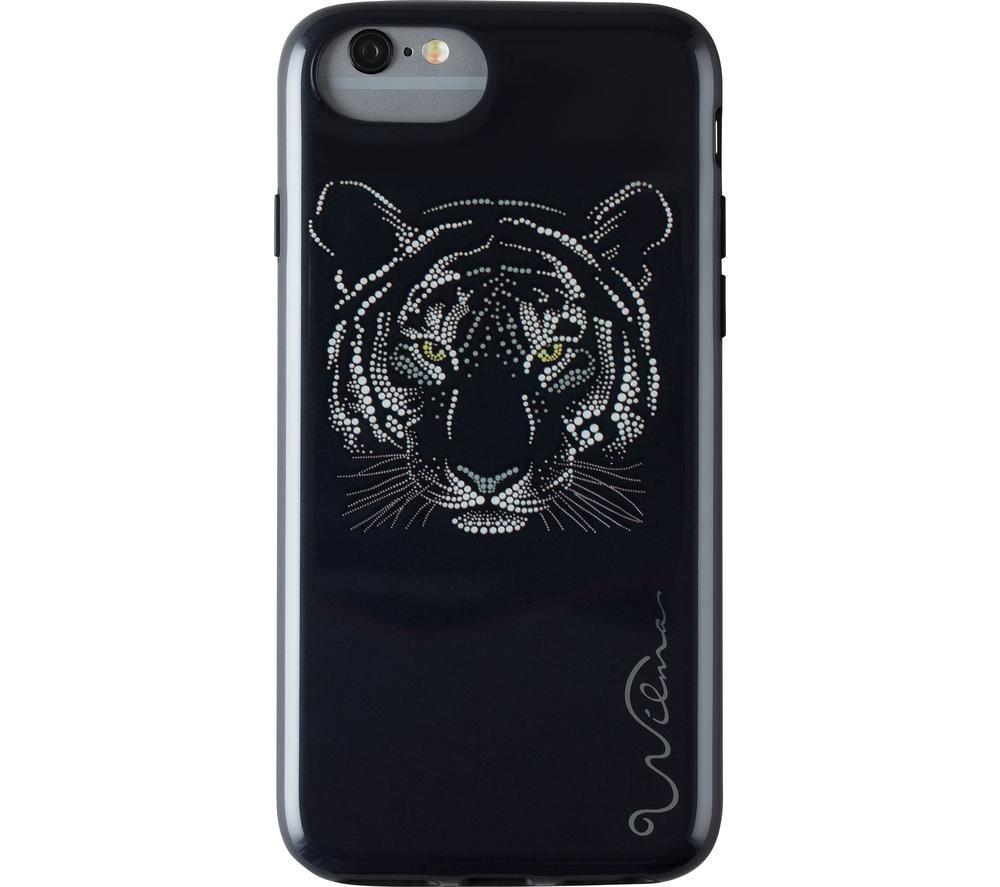 WILMA Midnight Shine Tigress iPhone 6 / 6s / 7 / 8 / SE Case - Black, Black