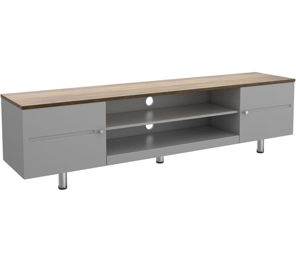 AVF Whitesands FS1900WSSG 1900 mm TV Stand - Grey & Rustic Wood