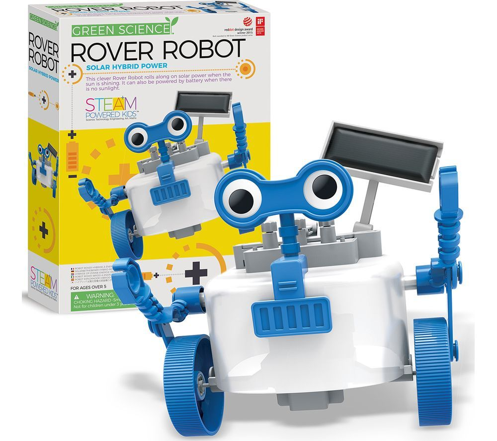 GREEN SCIENCE 403417 Hybrid Rover Robot, Green