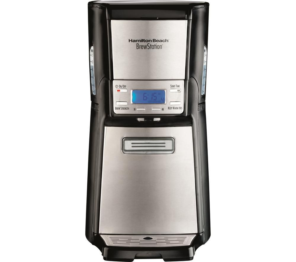 HAMILTON BEACH BrewStation 48465-SAU Filter Coffee Machine - Black & Silver