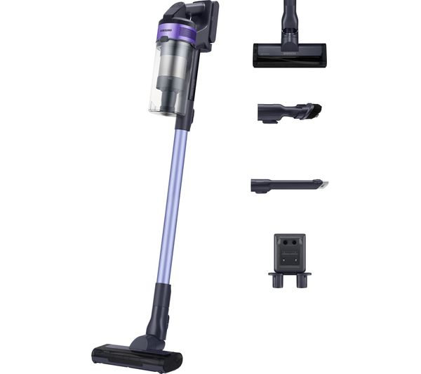 SAMSUNG Jet 60 Turbo Max 150 W Suction Power Cordless Vacuum Cleaner with Jet Fit Brush - Teal Violet & Cotta Black
