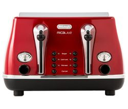 Micalite CTOM4003R 4-Slice Toaster - Red