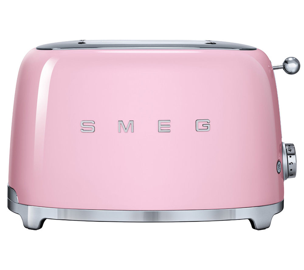 Buy SMEG TSF01PKUK 2 Slice Toaster Pink Free Delivery