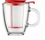 BODUM Yo Yo Mug & Tea Strainer Set - Red