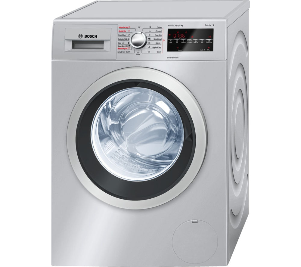 buy bosch serie 6 wvg3046sgb washer dryer silver free delivery currys. Black Bedroom Furniture Sets. Home Design Ideas