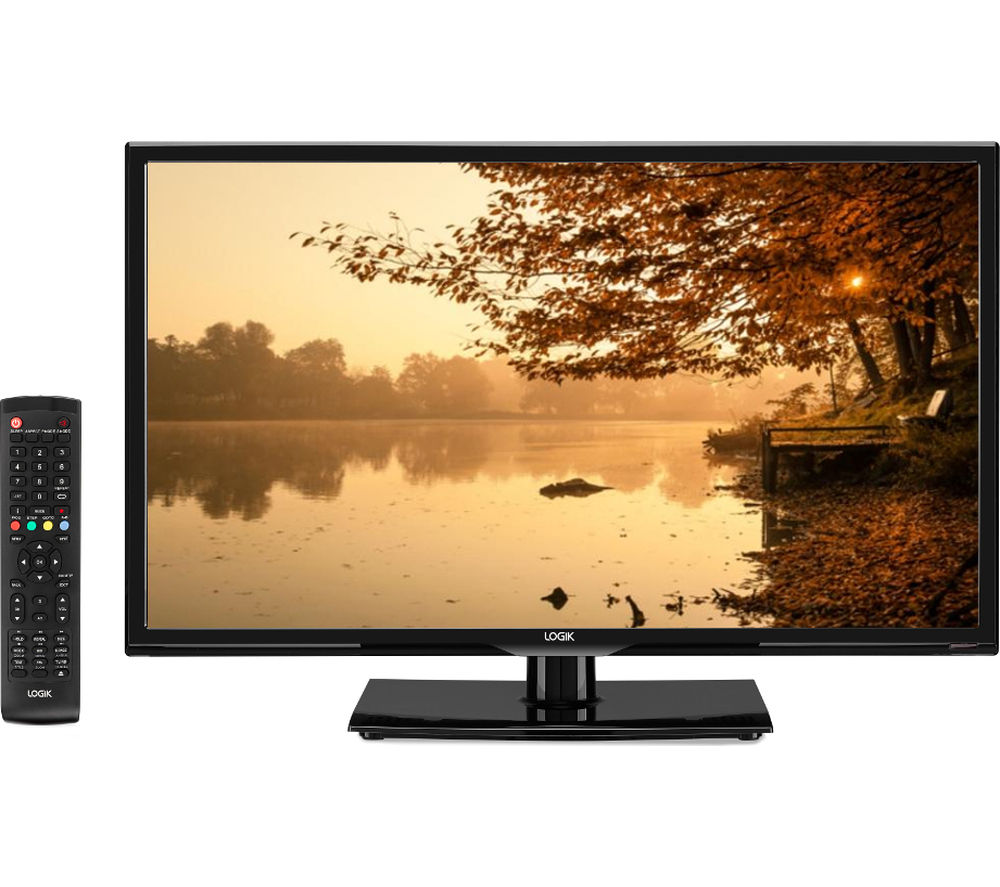 "LOGIK L24HED16 24"" LED TV with Built-in DVD Player + L2HDINT15 2 m HDMI Cable"