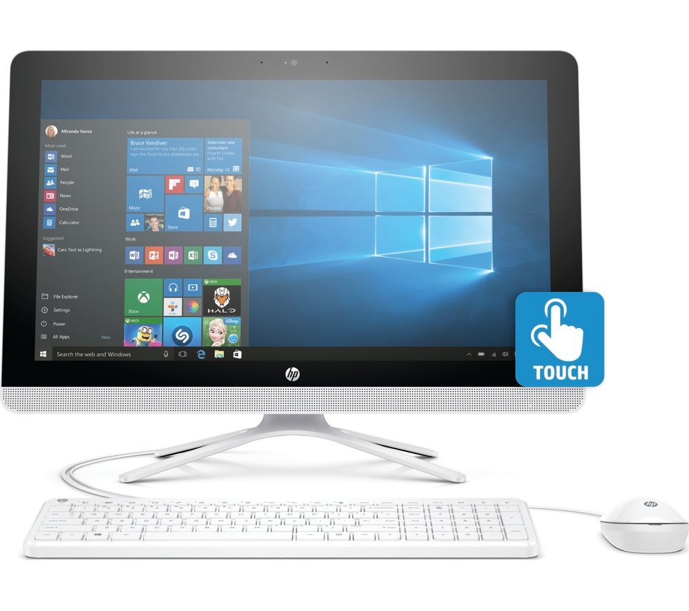 Buy Hp 22 B065na 21 5 Quot Touchscreen All In One Pc White